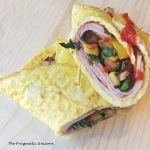 paleo egg ham and veggie wrap